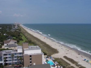 Myrtle Beach rental ocean view